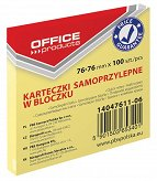 Pbs notes samoprz.office 76x76mm .żółty 14047611-06 100k
