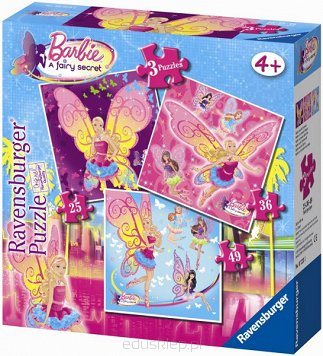 Puzzle 3 w 1 Barbie Ravensburger