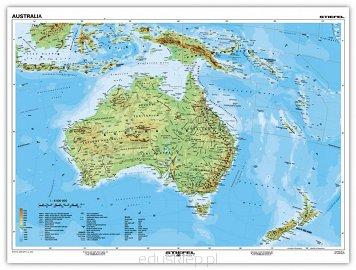 Australia Mapa Fizyczna Jezyk Angielski Stiefel Eurocart