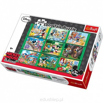 Puzzle 390 Elementów Long Tale Mickey & Friends Trefl