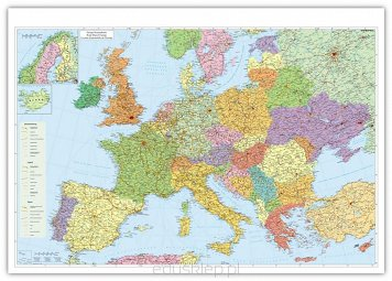 Europa Mapa Scienna Drogowa
