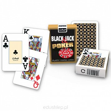 Karty 55 List. Black Jack Emerald Trefl