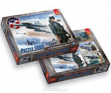 Puzzle 1000 Elementów F16 Fighting Falcon Trefl