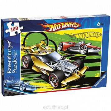 Puzzle 100 Elementów XXL Hot Wheels Ravensburger