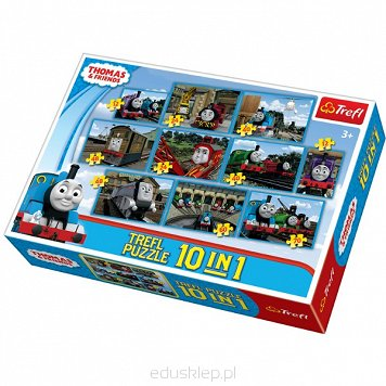 Puzzle 10 w 1 Mix Thomas & Friends Trefl
