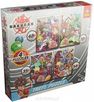 Puzzle 4 w 1 Bakugan Out 2012 Trefl