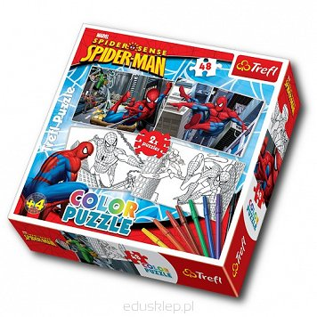 Puzzle 2X48 Elementów Color Spiderman Trefl