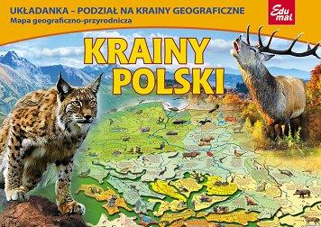 Krainy Polski Mapa Układanka Edukacyjna