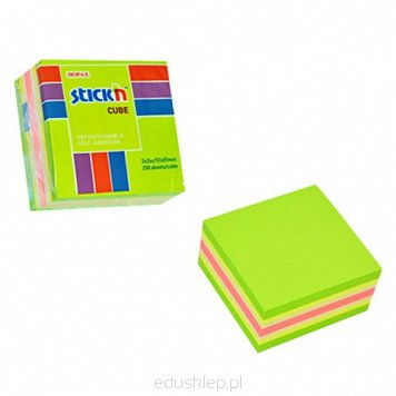 Notes kostka 51x51 mm zielony mix neon i pastel 21534