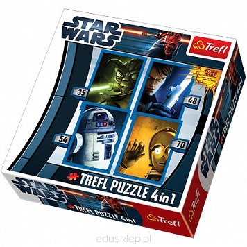 Puzzle 4W1 Mix Star Wars Clone Trefl